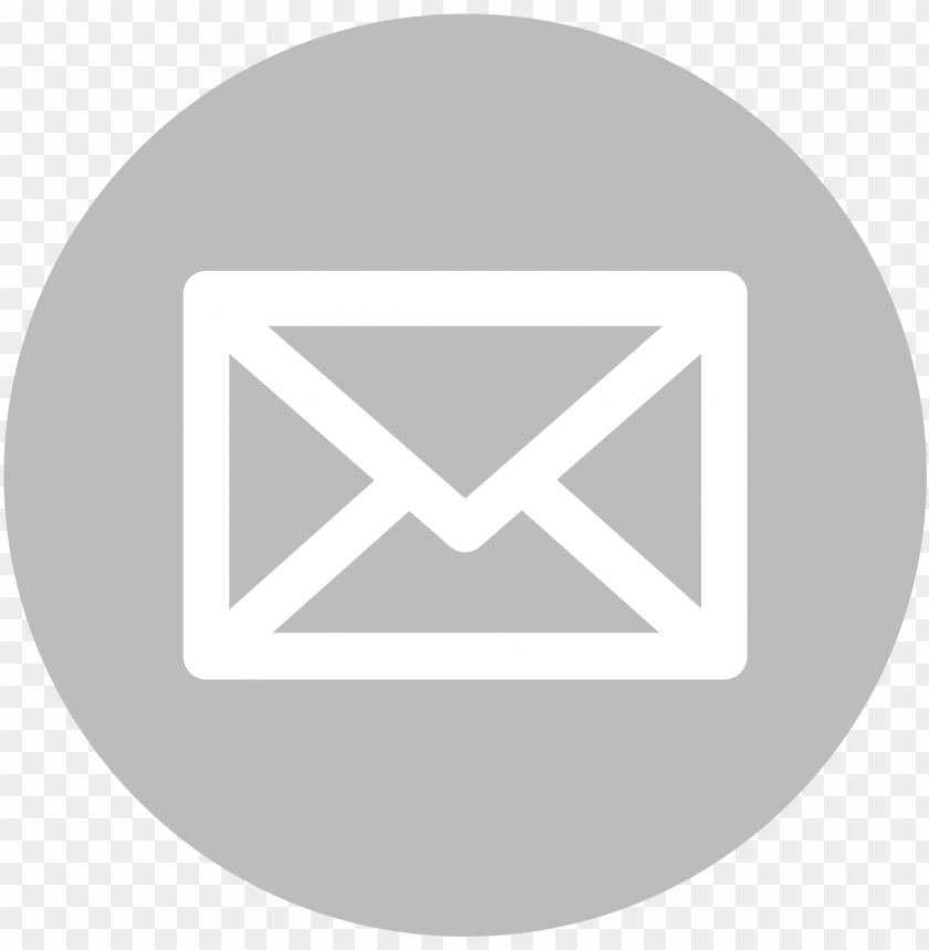 free PNG mail icon white on grey - transparent background email logos PNG image with transparent background PNG images transparent