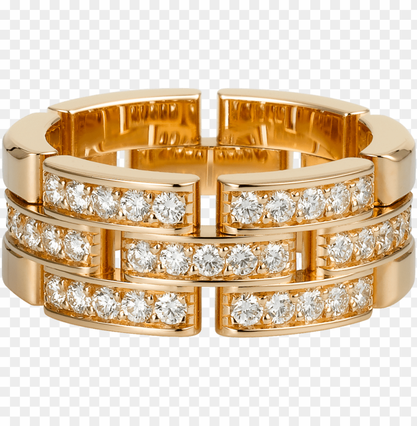 free PNG maillon panthère ring, 3 half diamond-paved rowspink - maillon panthere ring, 3 half diamond-paved rows PNG image with transparent background PNG images transparent