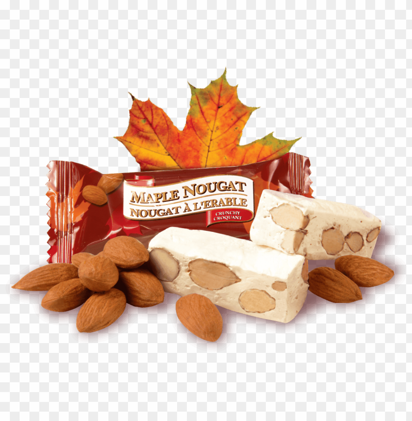 free PNG main product picture-maple nougat crunchy - almond PNG image with transparent background PNG images transparent