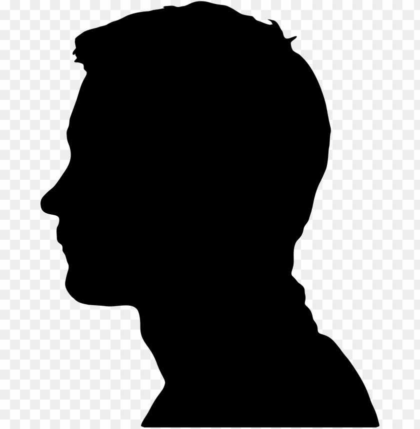 free PNG male head silhouette png vector black and white stock - male silhouette head PNG image with transparent background PNG images transparent