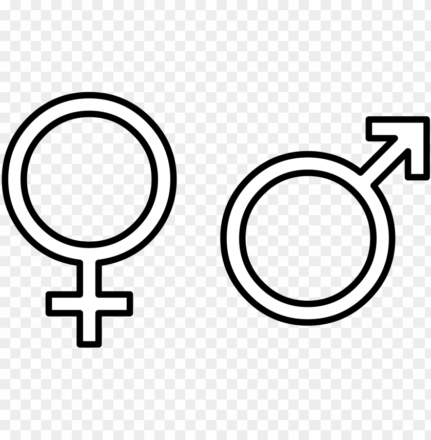 male vector gender - male female symbol white PNG image with transparent background@toppng.com