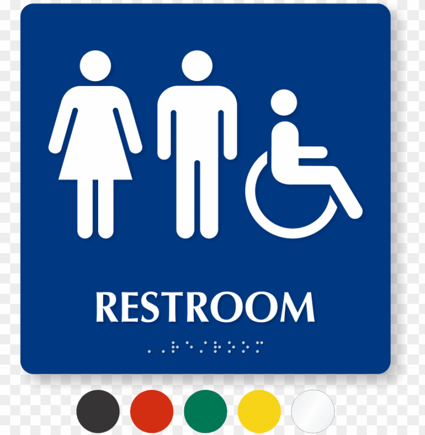 Man And Women Bathroom Sign Clipart
