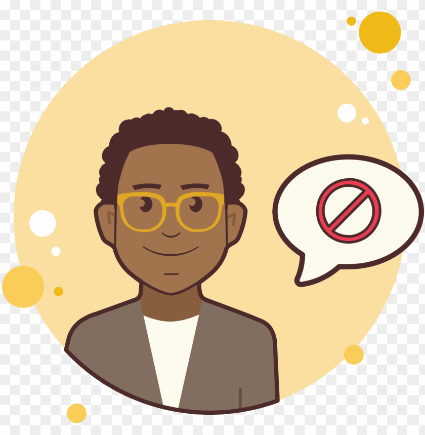 free PNG man in yellow glasses stop sign icon - icon png - Free PNG Images PNG images transparent
