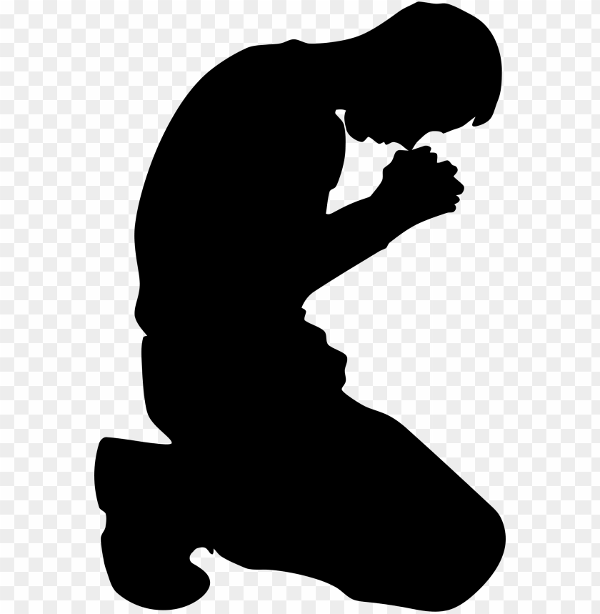 free PNG man kneeling in prayer minus ground silhouette icons - man praying silhouette PNG image with transparent background PNG images transparent