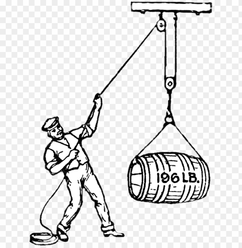 free PNG Download man lifting heavy barrel with pulley png images background PNG images transparent