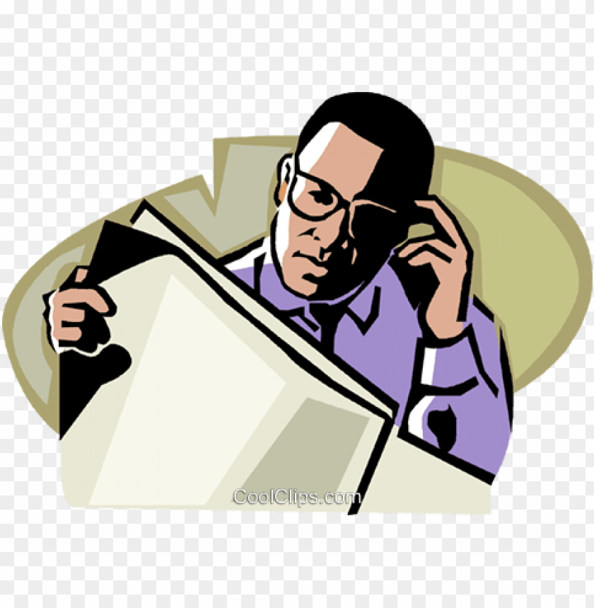 free PNG man reading a newspaper - black man reading newspaper PNG image with transparent background PNG images transparent
