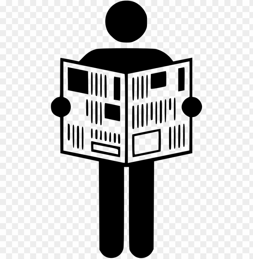 free PNG man reading newspaper icon PNG image with transparent background PNG images transparent