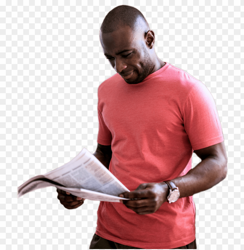 free PNG man reading newspaper - people reading newspaper PNG image with transparent background PNG images transparent