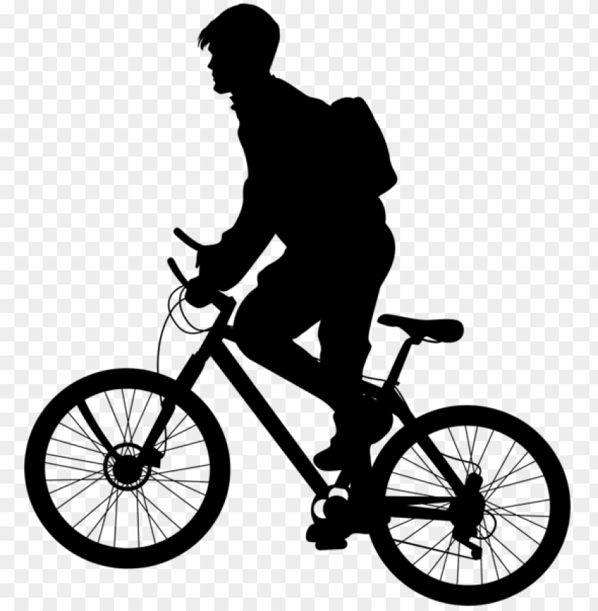 free PNG man riding bicycle silhouette png - Free PNG Images PNG images transparent