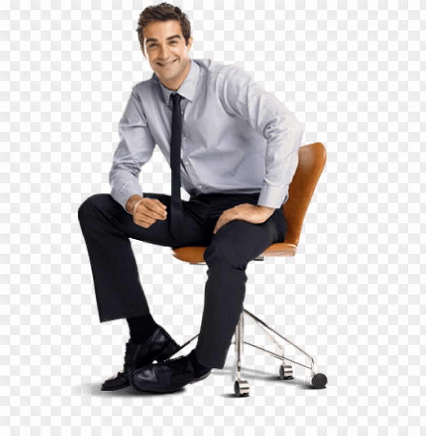 free PNG man sitting in chair smiling - sitting on chair PNG image with transparent background PNG images transparent
