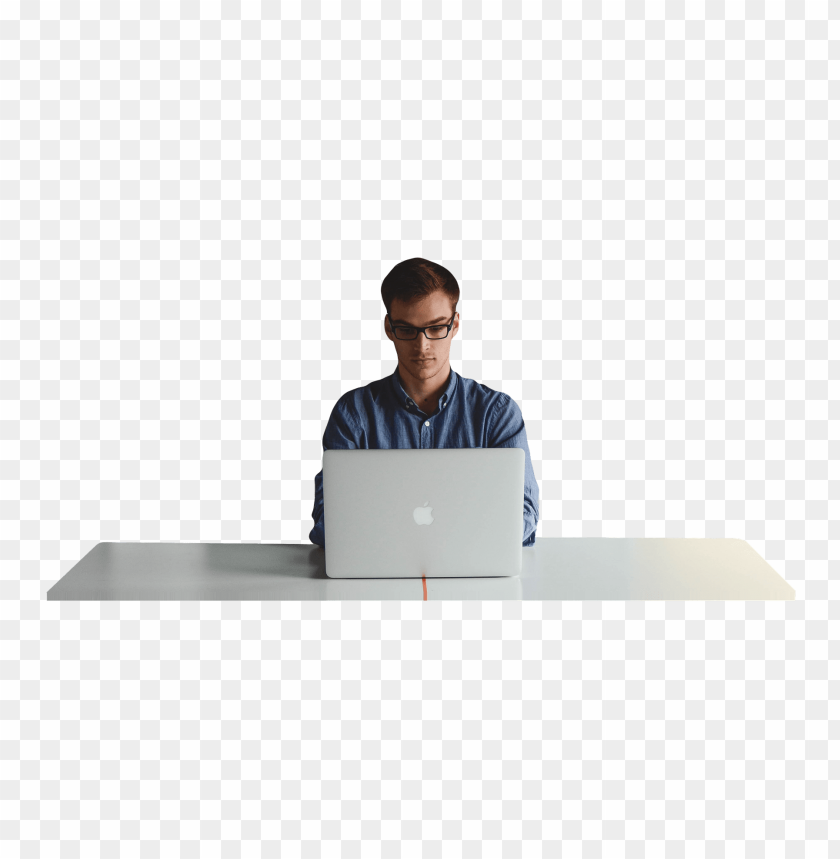 free PNG Download man working on imac png images background PNG images transparent