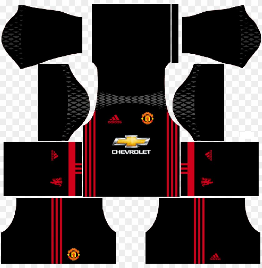 free PNG manchester united 2016-2017 goalkeeper home kits dream - dream league soccer kit do ps PNG image with transparent background PNG images transparent