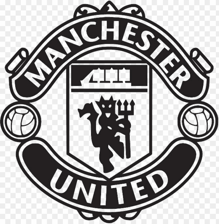 Manchester United Black Logo Png Image With Transparent Background Toppng