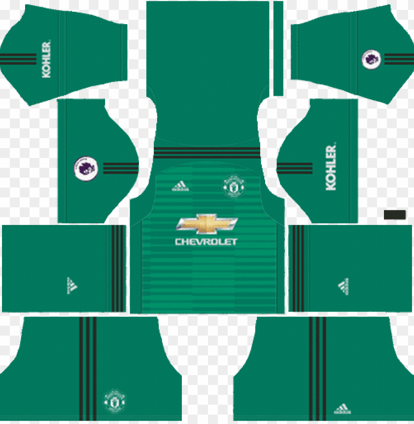 free PNG manchester united kits 2017-2018 - kit dream league soccer 2018 PNG image with transparent background PNG images transparent