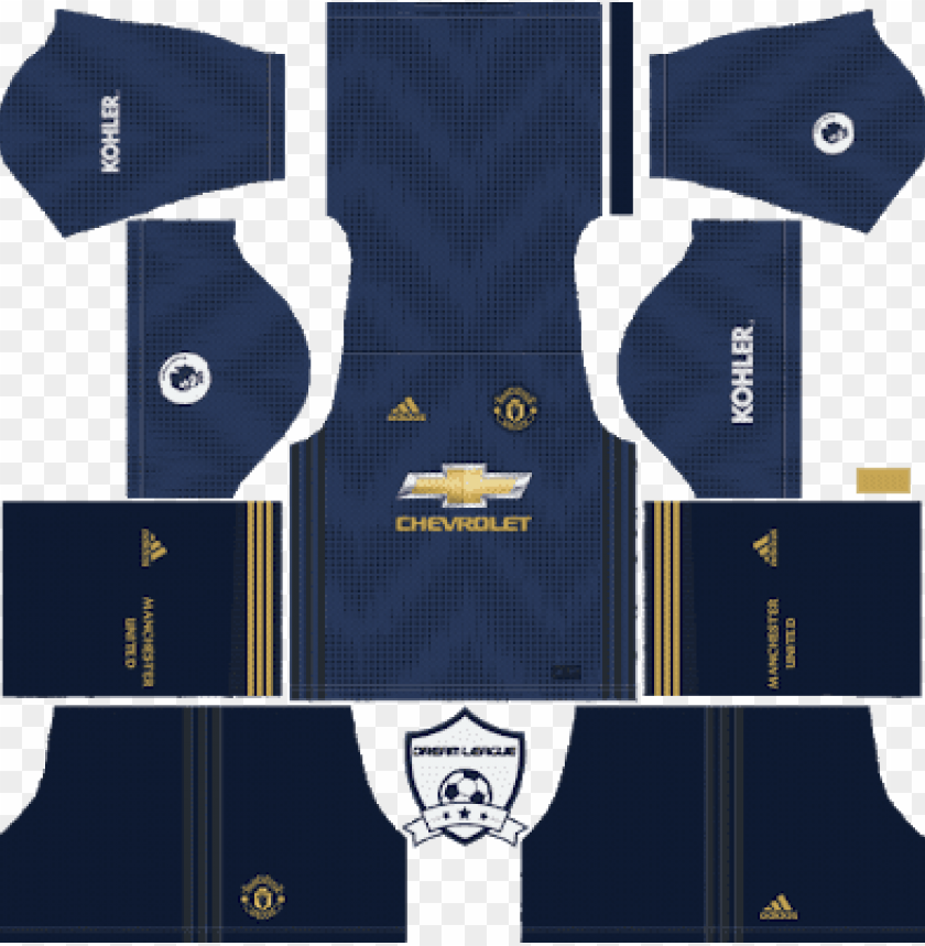 free PNG manchester united third kit dls - dream league soccer kits manchester united 2019 PNG image with transparent background PNG images transparent