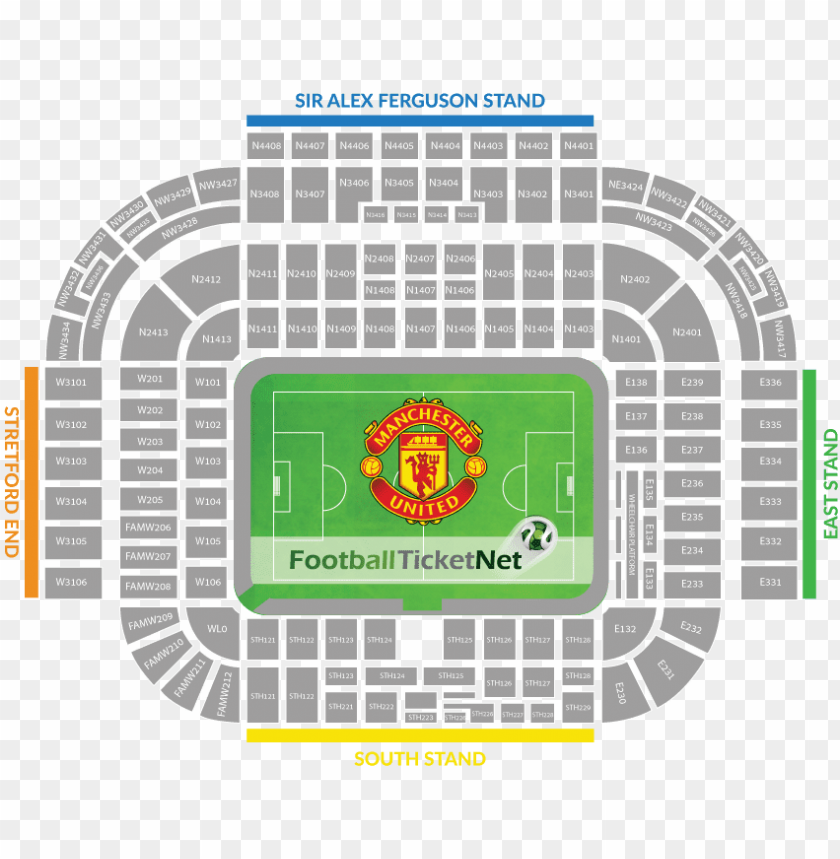 free PNG manchester united vs manchester city tickets - old trafford stadium seating pla PNG image with transparent background PNG images transparent