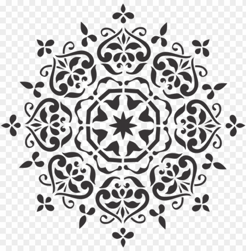 free PNG mandala stencil 2 painted effect - mandala stencil PNG image with transparent background PNG images transparent