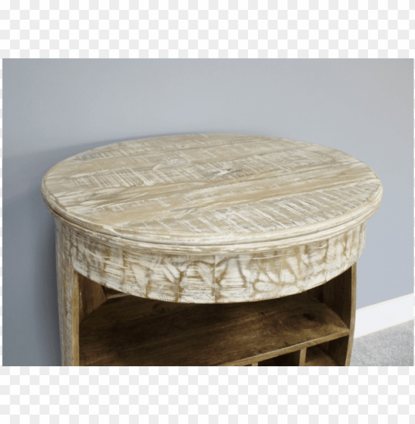 mango wood wine barrel bar table - coffee table PNG image with transparent background@toppng.com