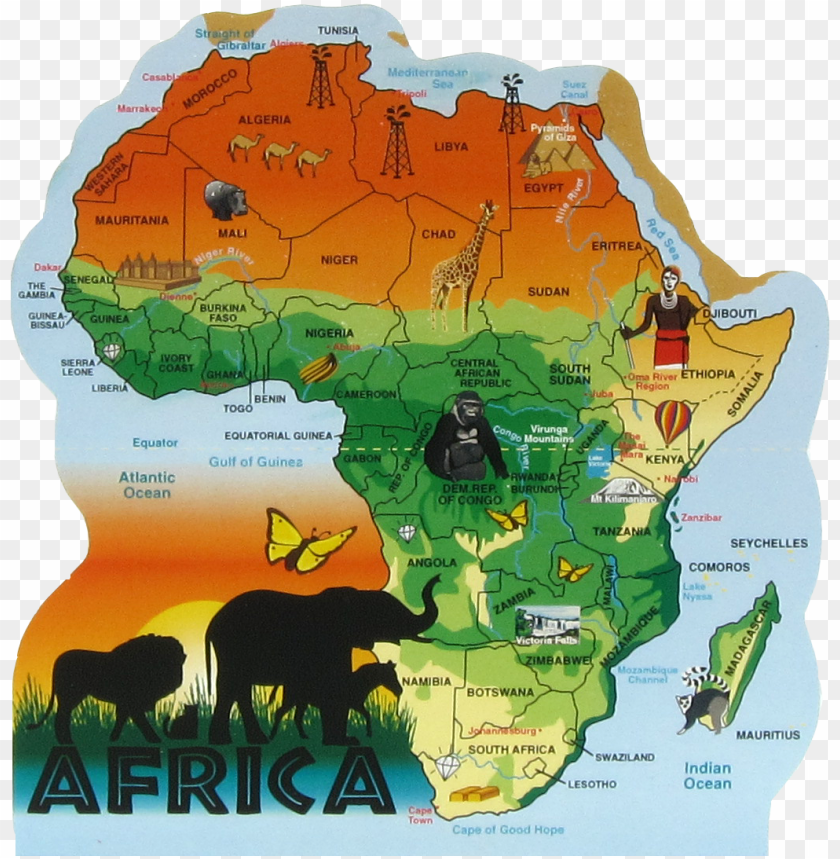 Safari Africa Map map of africa safari PNG image with transparent background | TOPpng