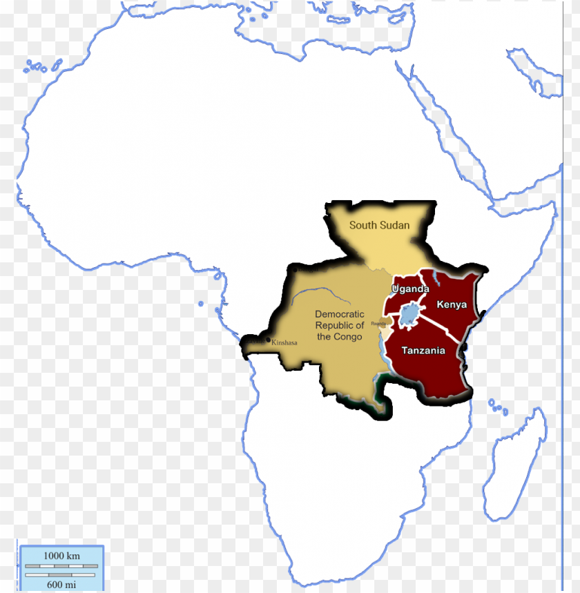free PNG map of africa showing where tuyambe workd - blank map of north africa PNG image with transparent background PNG images transparent