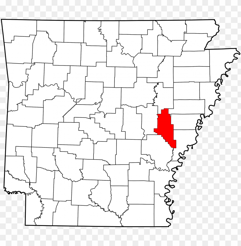 free PNG map of arkansas highlighting monroe county PNG image with transparent background PNG images transparent
