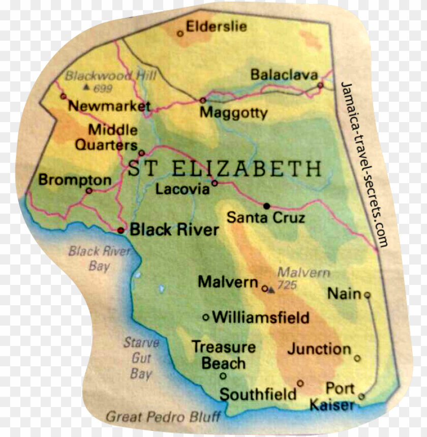 free PNG map of black river st elizabeth - atlas PNG image with transparent background PNG images transparent