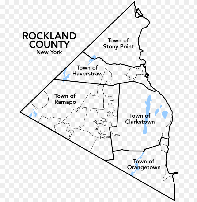 free PNG map of rockland county - map of north rockland PNG image with transparent background PNG images transparent