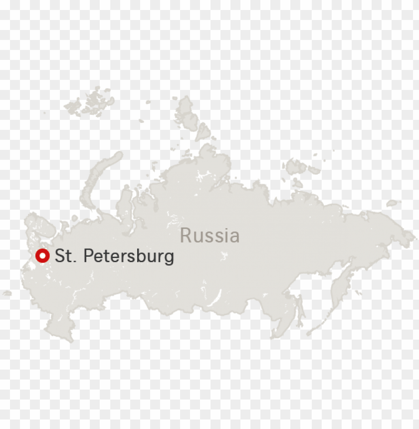 free PNG map of russia with destination saint petersbur PNG image with transparent background PNG images transparent