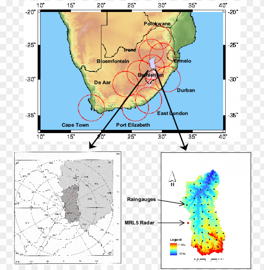 free PNG map of south africa illustrating the weather radar - atlas PNG image with transparent background PNG images transparent