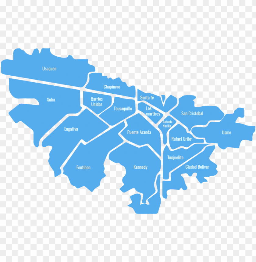 free PNG mapa de bogota con sus localidades PNG image with transparent background PNG images transparent