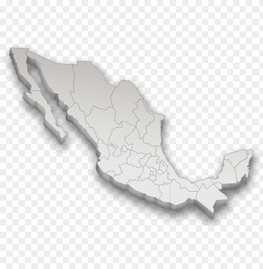 free PNG mapa de mexico d png - mapa mexico 3d PNG image with transparent background PNG images transparent