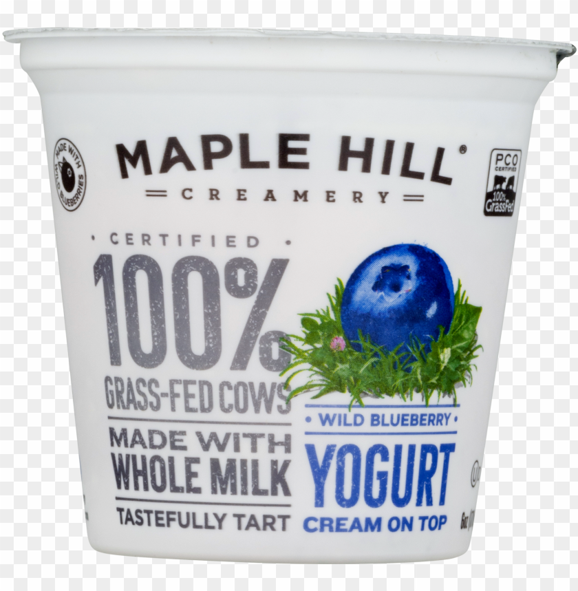 free PNG maple hill creamery yogurt cream on top wild blueberry, PNG image with transparent background PNG images transparent