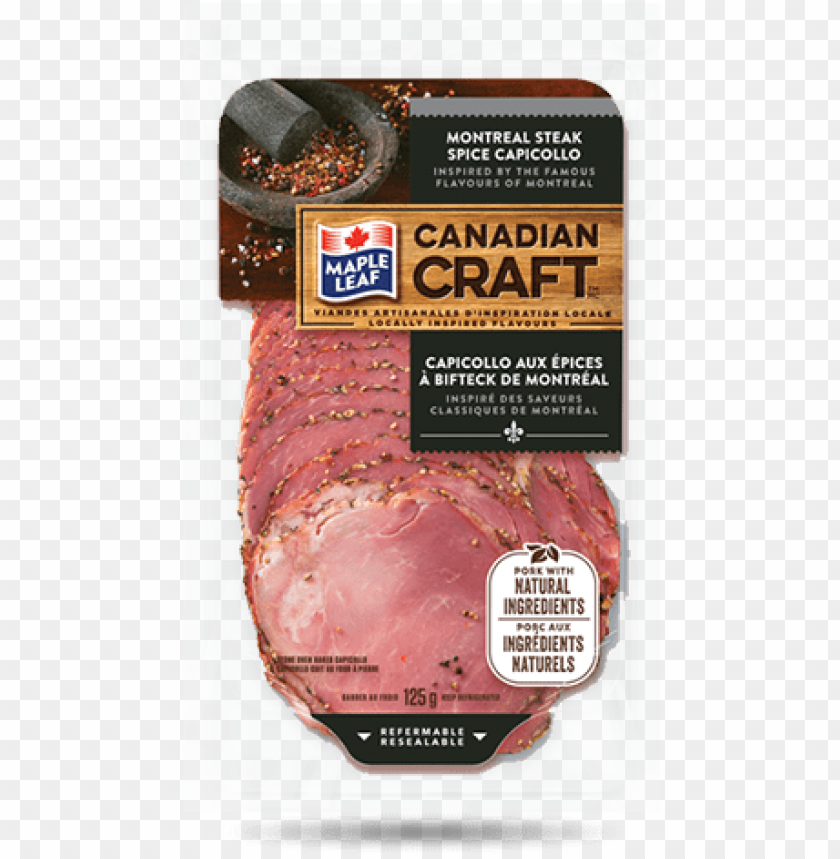free PNG maple leaf canadian craft™ montreal steak spice capicollo - maple leaf foods PNG image with transparent background PNG images transparent