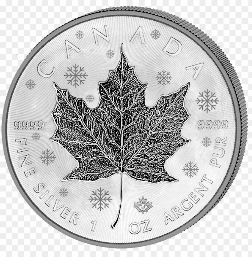 "free PNG maple leaf ""moon phases"" 4 seasons silver coins set - maple leaf PNG image with transparent background PNG images transparent"