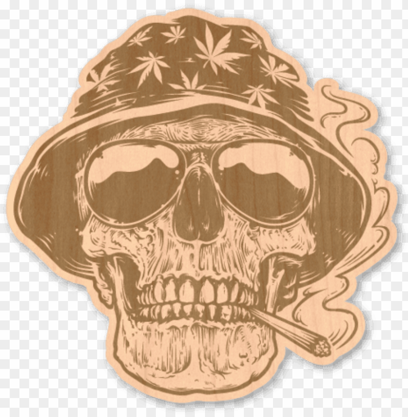 free PNG maple wood sticker - rastaman skull vector PNG image with transparent background PNG images transparent