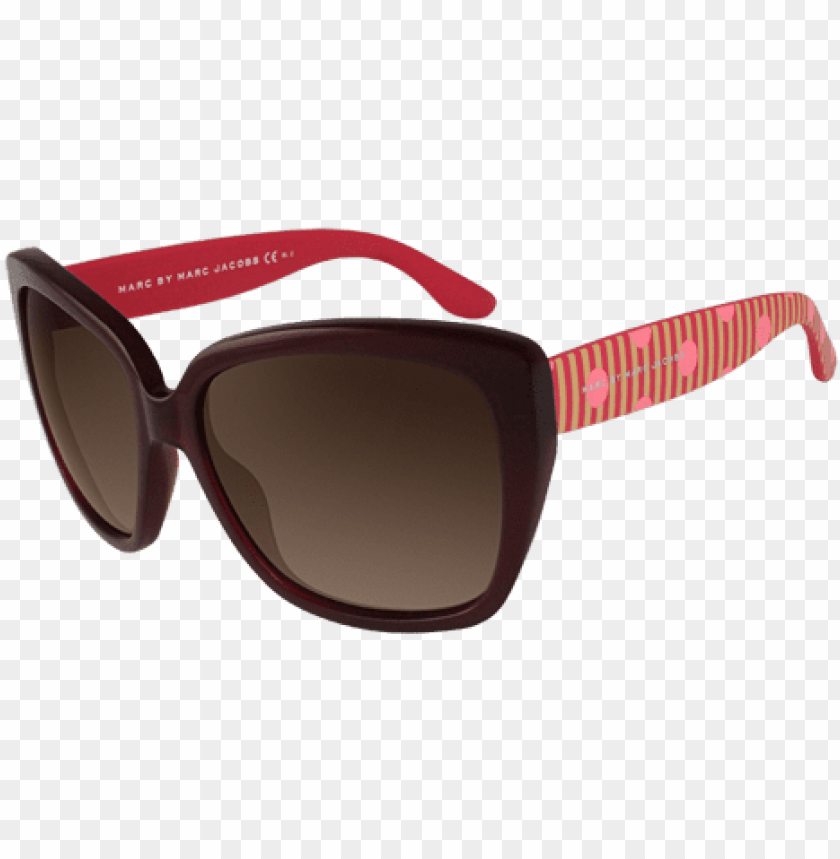 free PNG marc by marc jacobs mmj 358/s red pink sunglasses PNG image with transparent background PNG images transparent