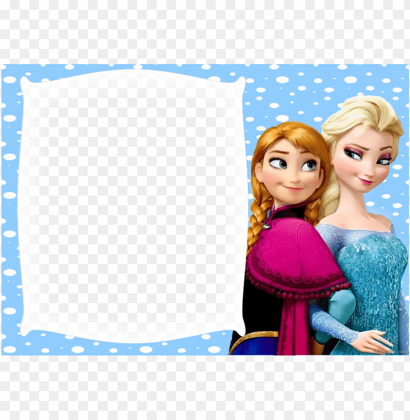free PNG marco fotos elsa y anna frozen - frozen anna and elsa edible cake topper frosting 1/4 PNG image with transparent background PNG images transparent