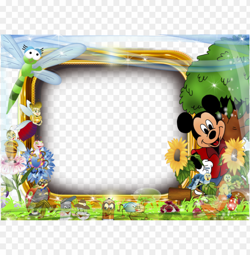 free PNG marco para foto mickey mouse - cartoons frame PNG image with transparent background PNG images transparent