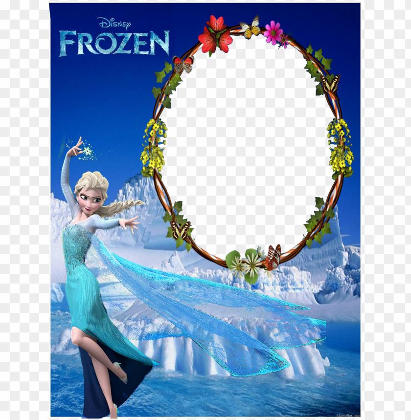 free PNG marcos de fotos frozen elsa anna 30 lindos PNG image with transparent background PNG images transparent
