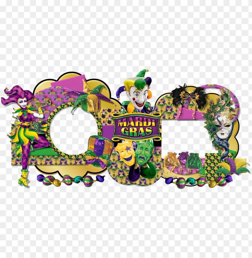 Mardi Gras Beads Border Png Venetian Style Wall Mask Masquerade