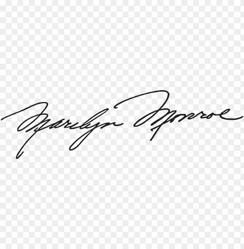 free PNG marilyn monroe signature - marilyn monroe signature vector PNG image with transparent background PNG images transparent