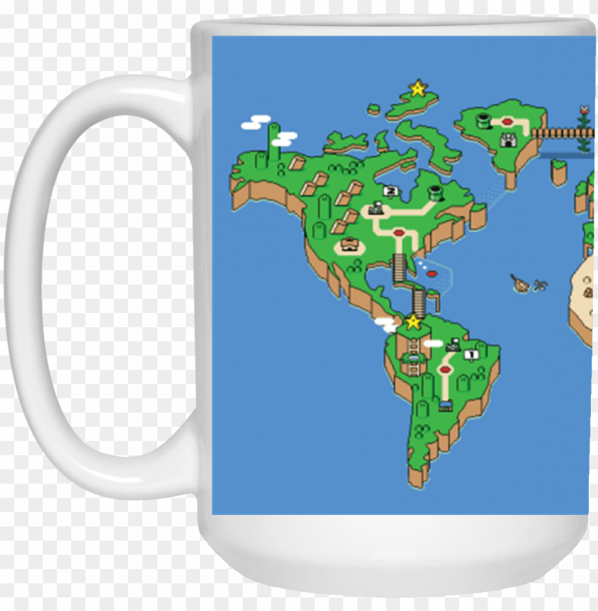 free PNG mario world map theme mug - super mario world map us PNG image with transparent background PNG images transparent