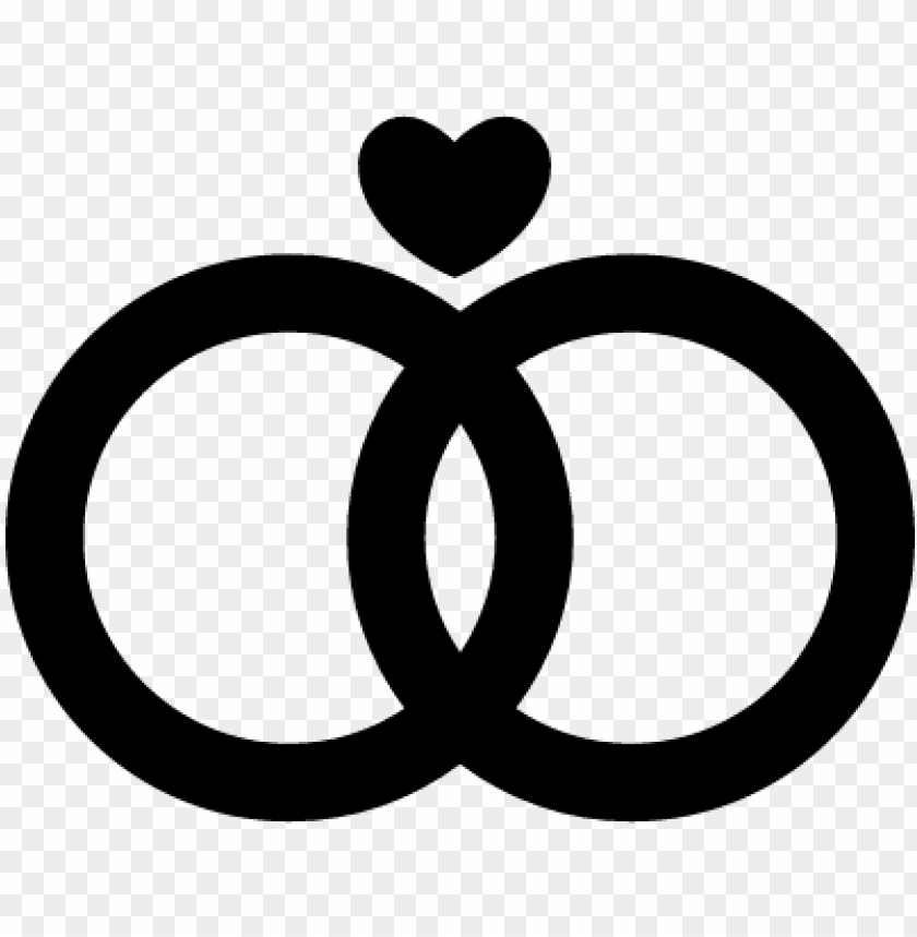 free PNG marriage rings couple with a heart vector - wedding rings icon PNG image with transparent background PNG images transparent