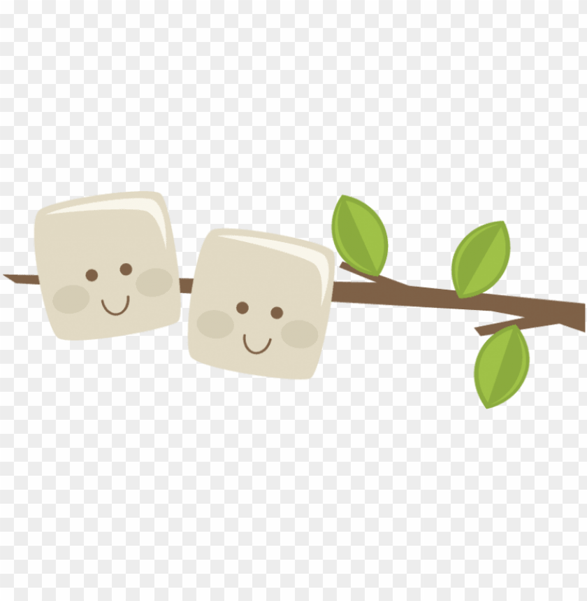 Marshmallows On A Stick Svg Scrapbook File Camping Clipart Marshmallow On A Stick Png Image With Transparent Background Toppng