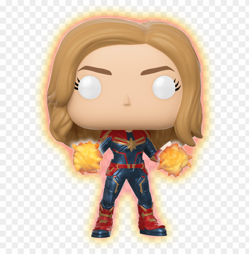 free PNG marvel - cm - captain marvel - glowing hands - walmart - funko pop captain marvel glow in the dark PNG image with transparent background PNG images transparent