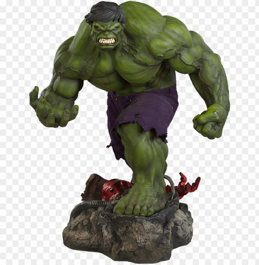free PNG marvel premium format™ figure the incredible hulk - incredible hulk - premium format figure PNG image with transparent background PNG images transparent