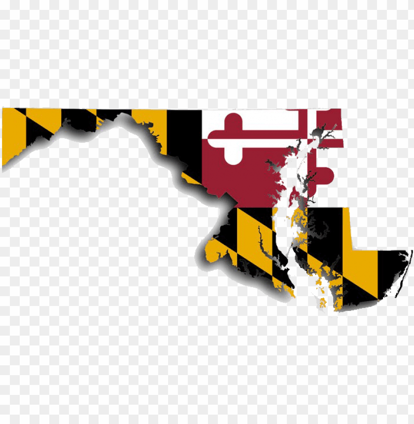 free PNG maryland map, with maryland flag design - maryland state flag font PNG image with transparent background PNG images transparent
