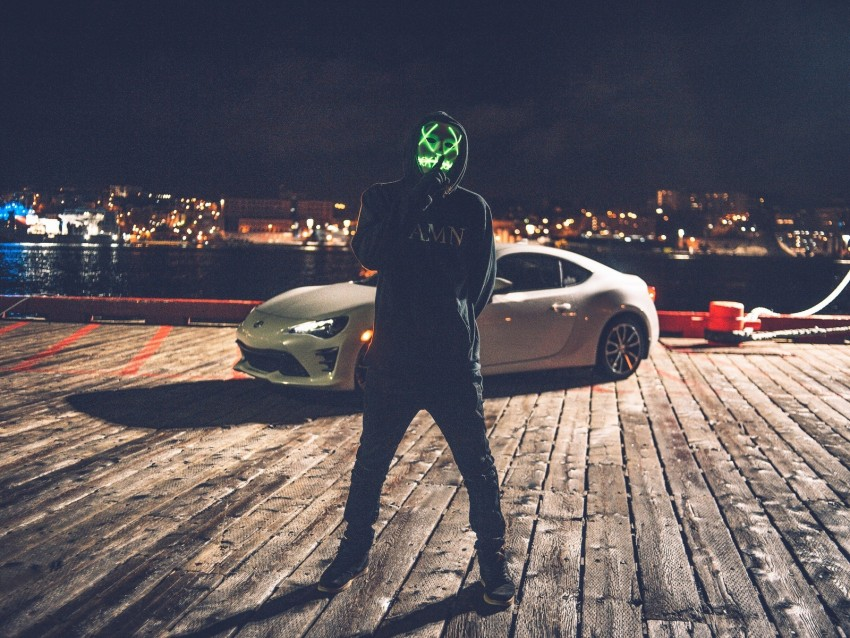 free PNG mask, anonymous, hood, auto, glow, silence background PNG images transparent