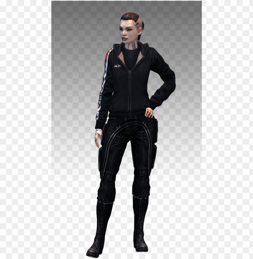 free PNG mass effect 3 female shepard hoodie PNG image with transparent background PNG images transparent