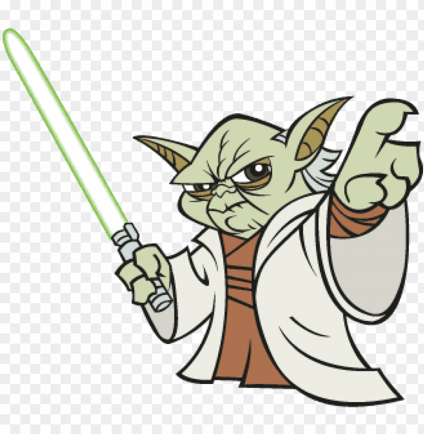 Master Yoda Vector Free Yoda Vector Star Wars Cartoon Yoda Png